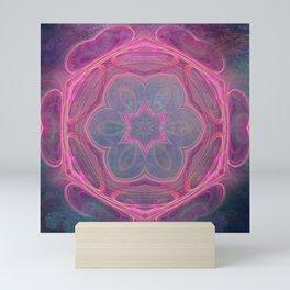 whimsical fractal love in pink Mini Art Print