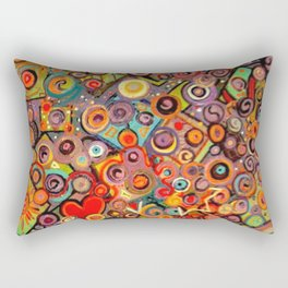 Abstract with squares Rectangular Pillow
