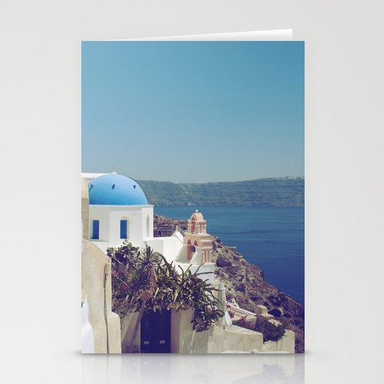 Santorini Door VI Stationery Cards