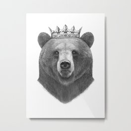 King bear Metal Print