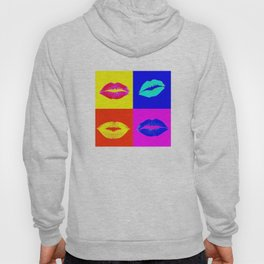 LIPS ON COLOURED SQUARES / LIP SERVICE Hoody