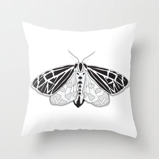 Virgin Tiger Moth Throw Pillow