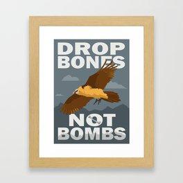 Lammergeier: Bones Not Bombs Framed Art Print