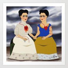 Frida Kahlo - Ladies Fridas Art Print