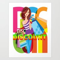 discount Art Prints featuring Creative Title : DISCOUNT by Don Kuing