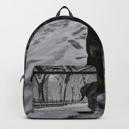 Rottweiler in Central Park New York City Backpack