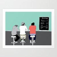 boys Art Prints featuring No 9 by kate alexandra