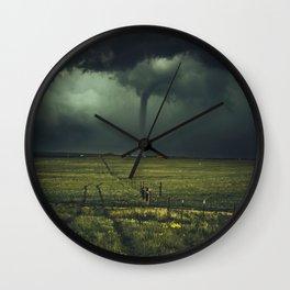 Tornado Coming (Color) Wall Clock