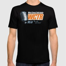 West Coast Talk Radio Black X-LARGE Mens Fitted Tee