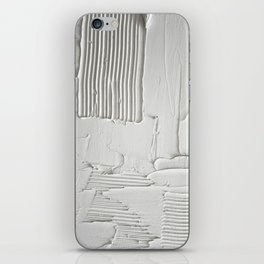 Relief [3]: an abstract, textured piece in white by Alyssa Hamilton Art  iPhone Skin