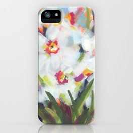Little White Daffodils iPhone Case