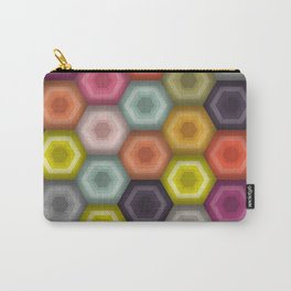 crochet honeycomb Carry-All Pouch
