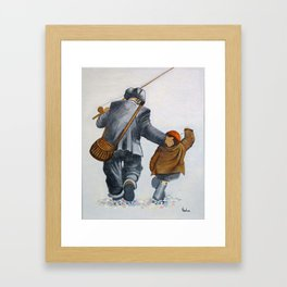 Gone Fishing Framed Art Print