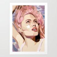 bubblegum Art Prints featuring Bubblegum  by Grace Teaney Art