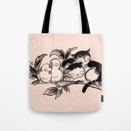 Lovebirds and cats Tote Bag