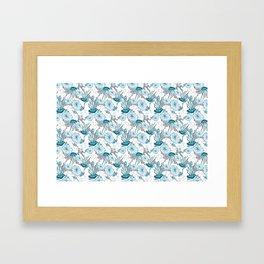 Underwater World with Jellyfishes dance Framed Art Print