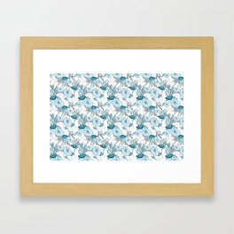 Underwater World with Jellyfishes dance Framed Art Print