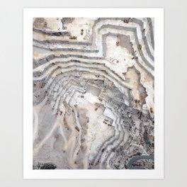 Marble cave Art Print