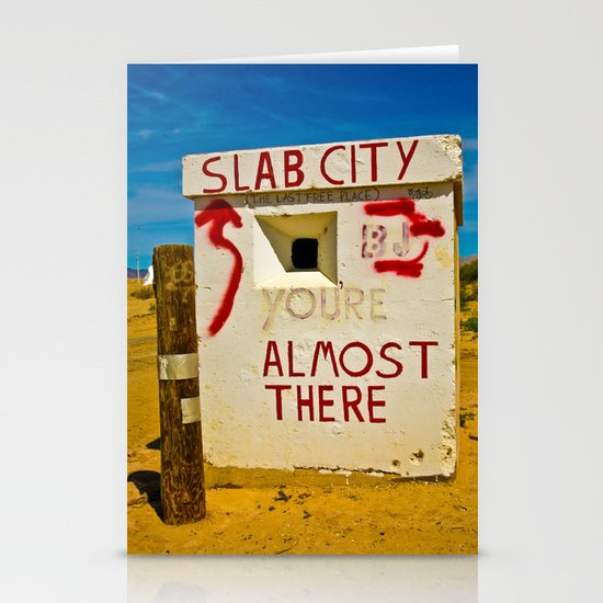 This way to Slab City Stationery Cards