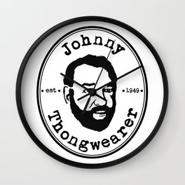 Johnny Thongwearer Wall Clock