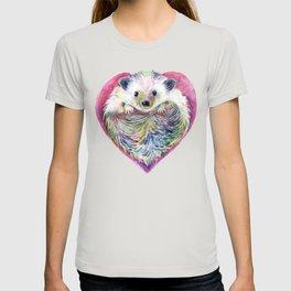 HedgeHog Heart by Michelle Scott of dotsofpaint studios T-shirt