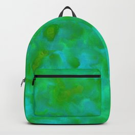 Fresh Green and Turquoise Lagoon Abstract Backpack