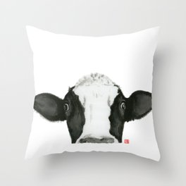 Curious Pauline Throw Pillow