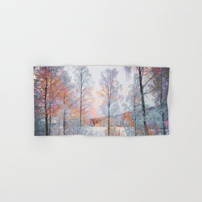 Winter in Norwegian Woods Hand & Bath Towel