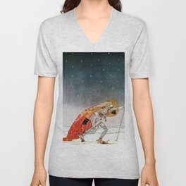 A King Who Goes To Find A Wolf That Has Returned To A White Country Unisex V-Neck