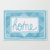 home sweet home Canvas Prints featuring Home by Anita Ivancenko