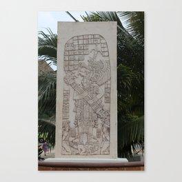 Coba Maya Stele Art Yucatan Canvas Print