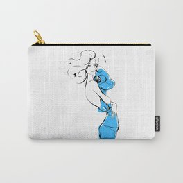 Fashion blond hair girl Carry-All Pouch