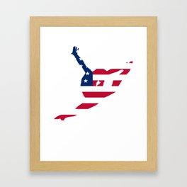 Gymnastic American Flag Framed Art Print