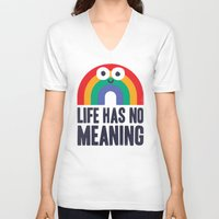 depression V-neck T-shirts featuring Chaos Rains by David Olenick