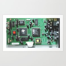 Circuit Board (Green) Art Print