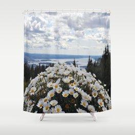 Nature Flowers Landscape Shower Curtain