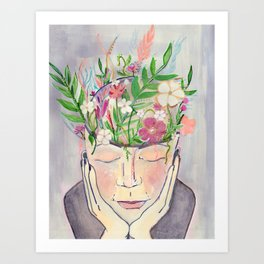 Quiet thoughts Art Print