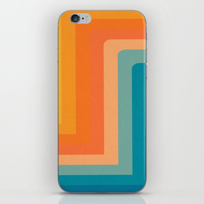 Retro 70s Color Lines iPhone Skin