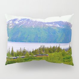 Alaska Passenger Train - Bird Point Pillow Sham