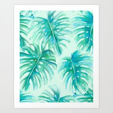 Paradise Palms Mint Art Print