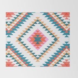 Aztec Rug 2 Throw Blanket