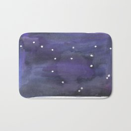 Ursus Major Constellation - Watercolor Bath Mat