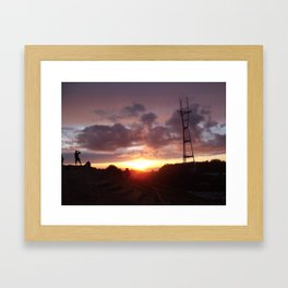 point Framed Art Print