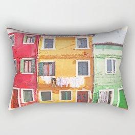 3 Houses in Burano Venice Rectangular Pillow