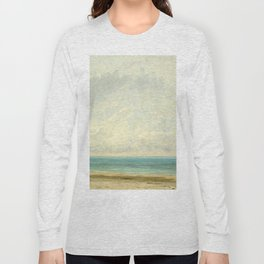 Calm Sea Oil Painting by Gustave Courbet Long Sleeve T-shirt