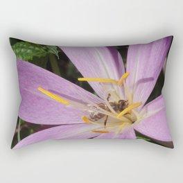 Bee in the purple flower Rectangular Pillow