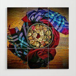 Roses and Wood Wood Wall Art