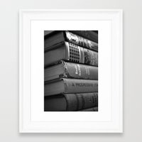 literature Framed Art Prints featuring Literature by Lanie
