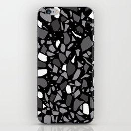 Terrazzo Spot Black 2 iPhone Skin