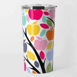 Teachers plant the seeds of knowledge Rainbow apple Tree Travel Mug